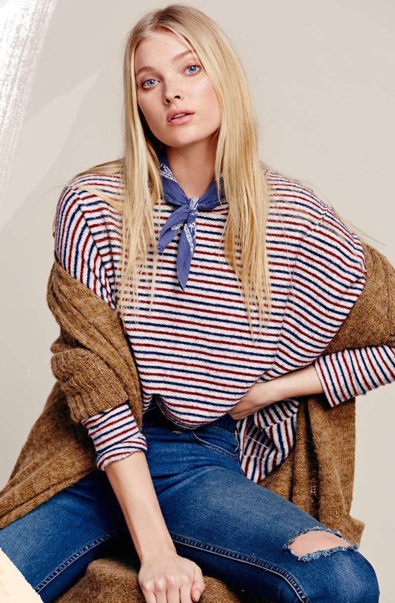 Free People Little Ann Stripe Pullover