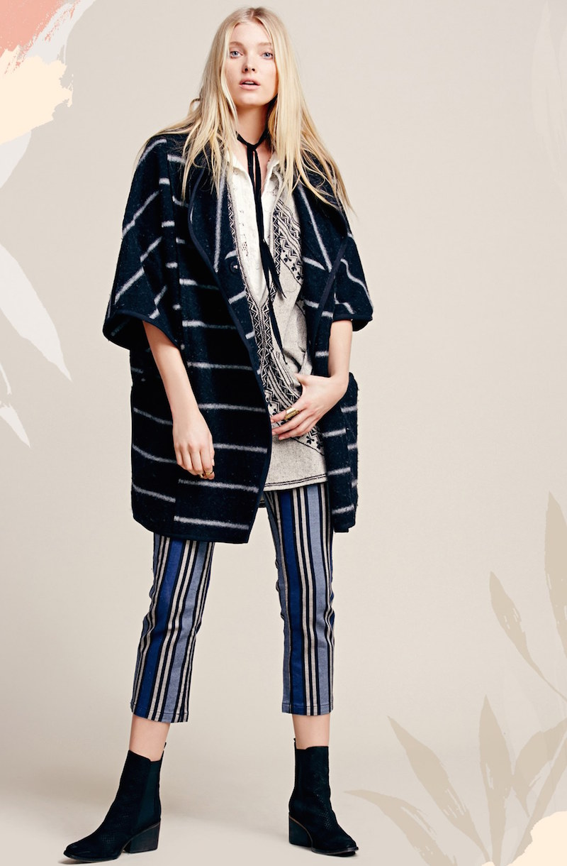 Free People Stripe Mod Trousers