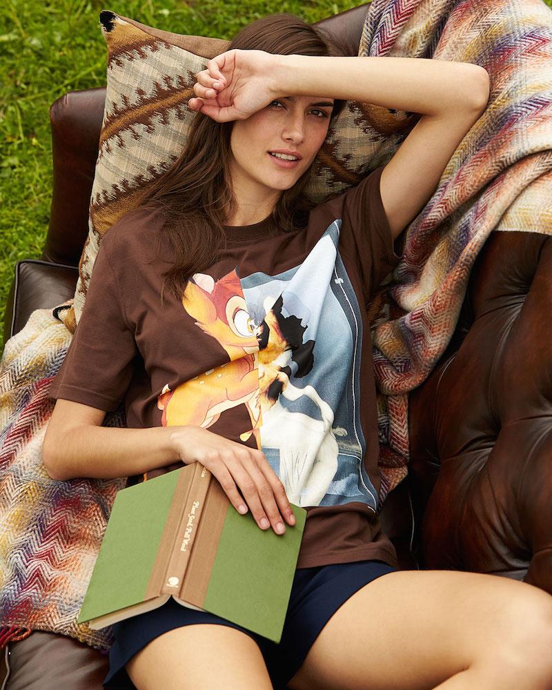 Givenchy Bambi-Print Short-Sleeve T-Shirt