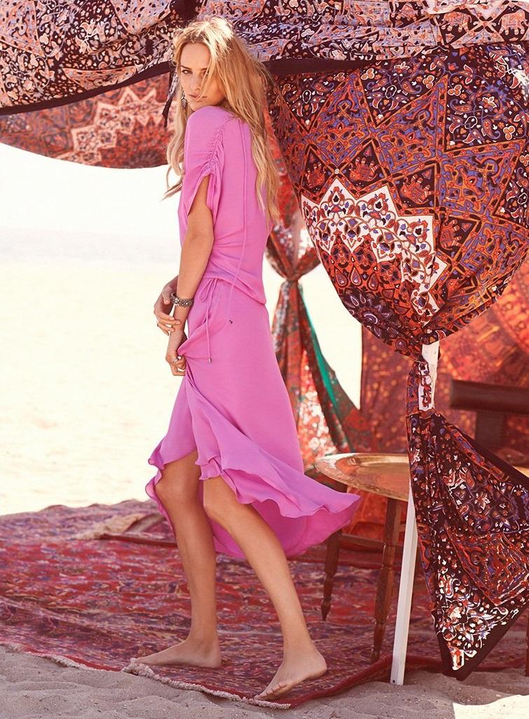Haute Hippie Drawstring Dress-