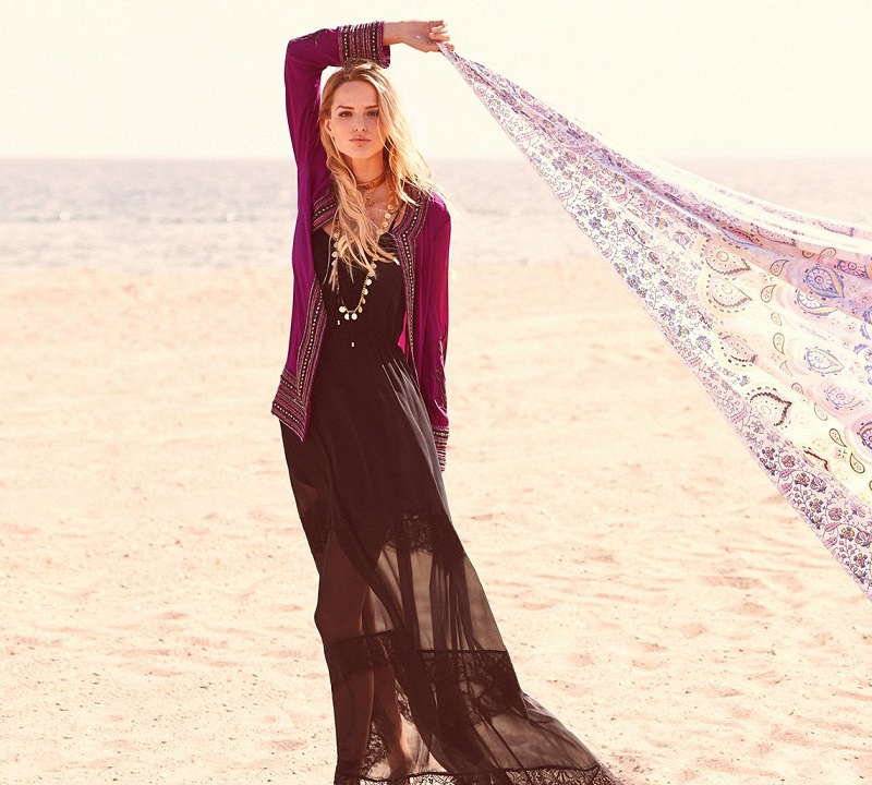 Haute Hippie Embellished Feather Cloak