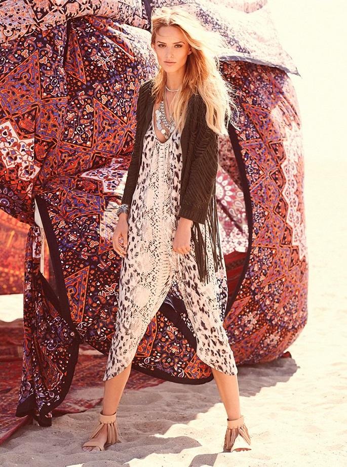 Haute Hippie Halter Neck Printed Drapey Jumpsuit