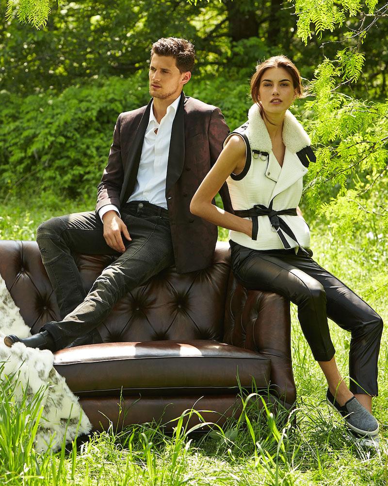 IRO Critzer Vest with Leather & Fur Trim