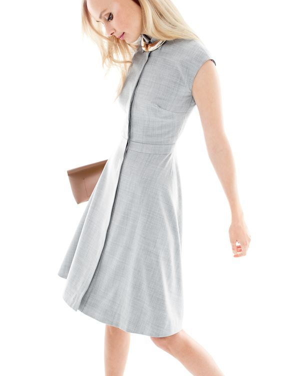 J.Crew Cap-sleeve shirtdress