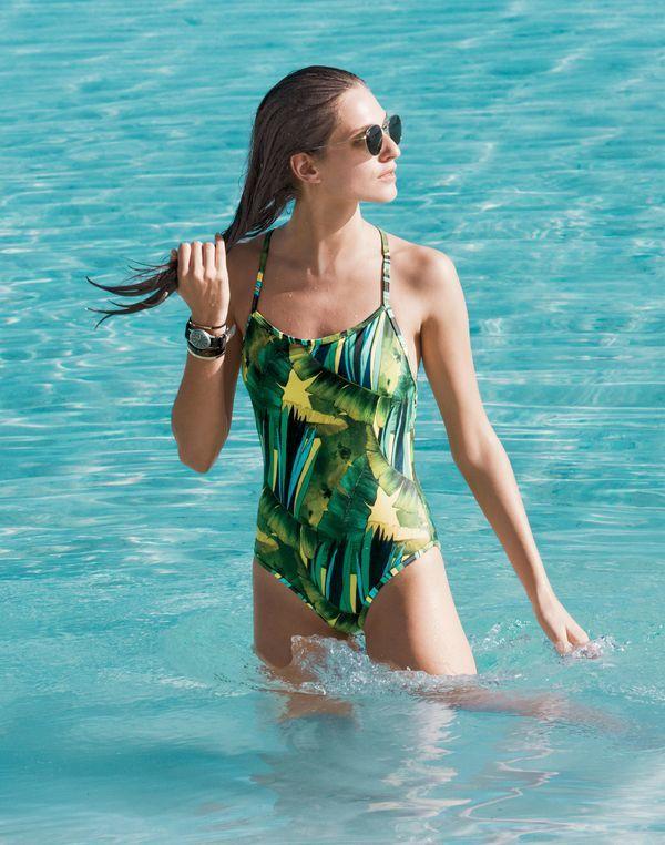 J.Crew Jungle print racerback one-piece swimsuit