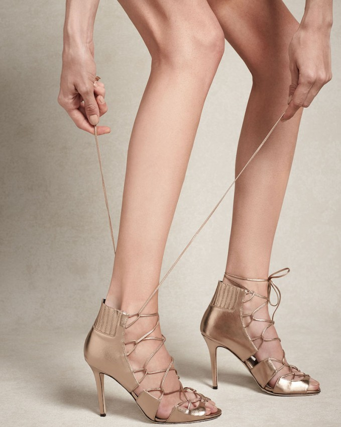 Jimmy Choo Myrtle Metallic Lace-Up Sandal
