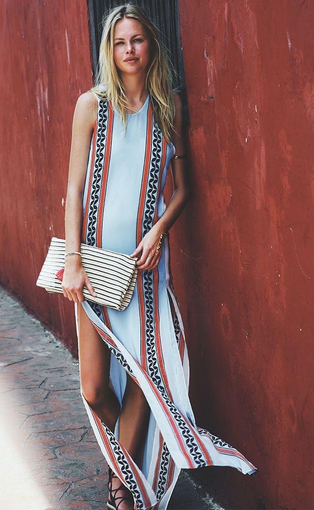Just Cavalli Kiss Print Maxi Dress
