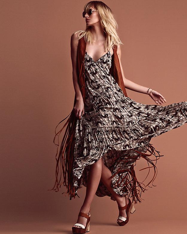 L'Agence Grace Printed Maxi Dress