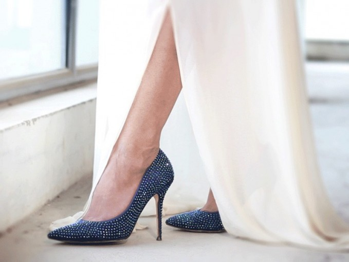 Manolo Blahnik BB Jet Crystal-Coated Satin Pumps