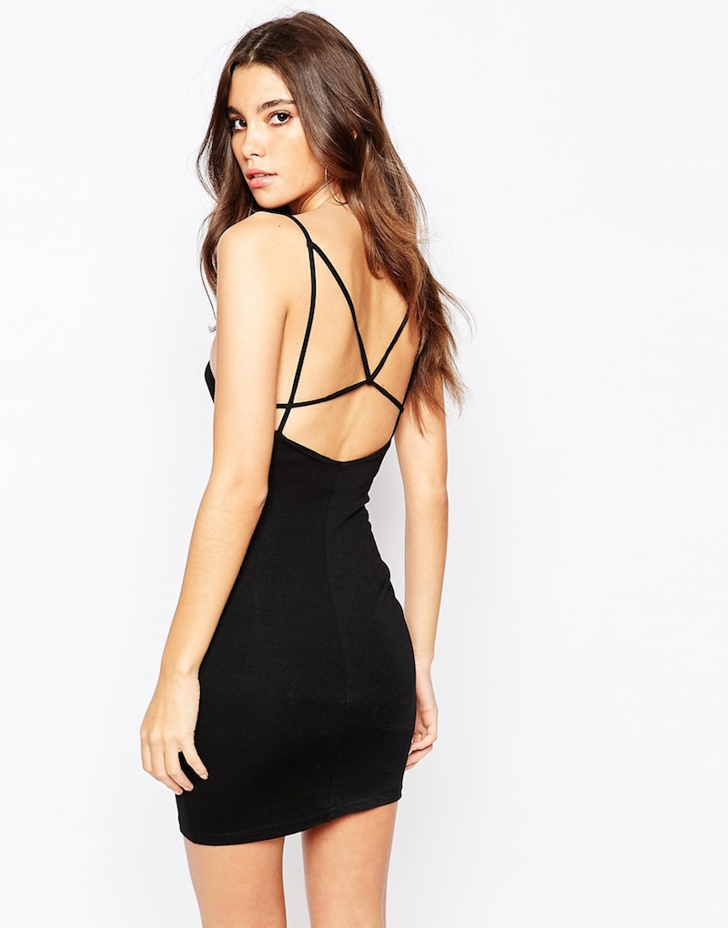 NaaNaa Body-Conscious Dress With Strap Detail in Black