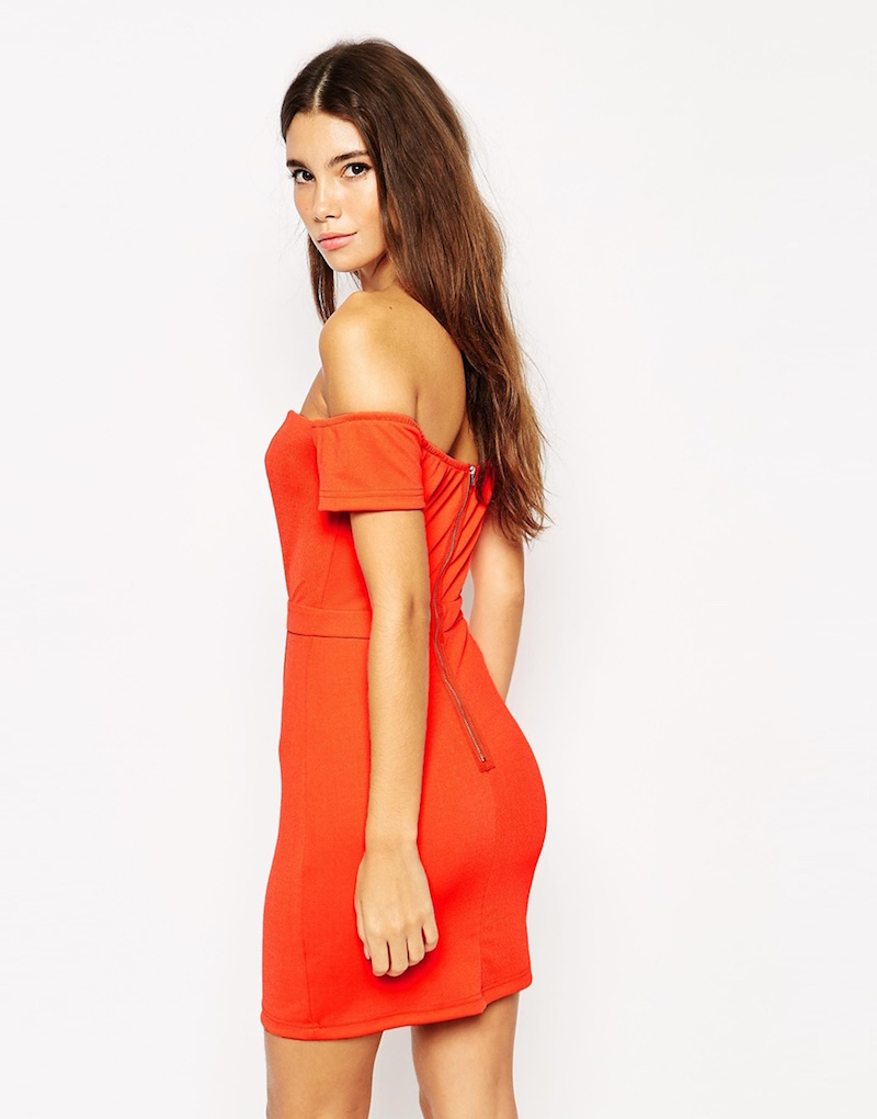 NaaNaa Off Shoulder Body-Conscious Dress