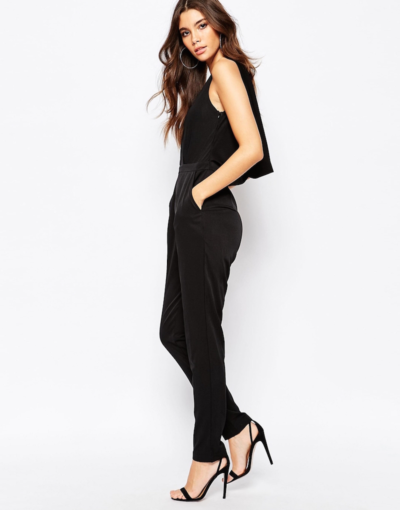 NaaNaa Wrap Front Jumpsuit With Cowl Back