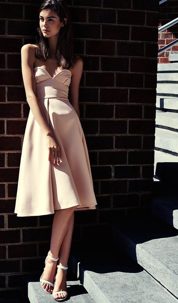 Nicholas Bonded Crepe Bustier Dress