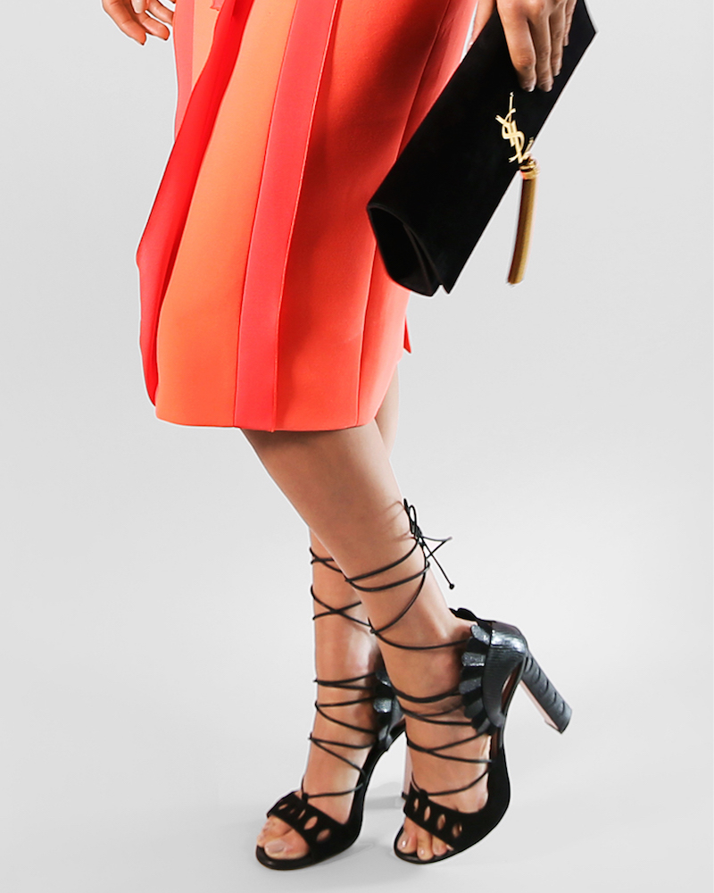 Paula Cademartori Lotus Lace-up Sandals
