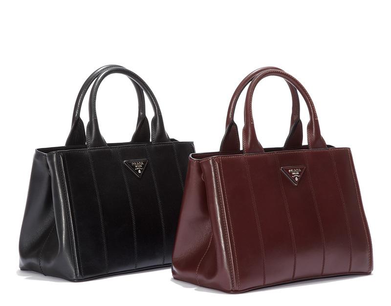 151d1209dec1 Shop Prada Fall 2015 Collection Handbags and Shoes at Saks Fifth Avenue.  Prada Soft Calf Tote