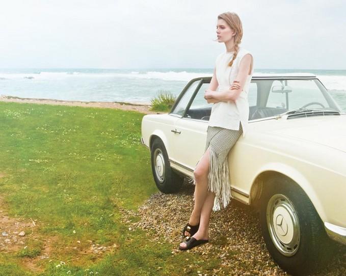 Proenza Schouler Fringed basket-weave skirt
