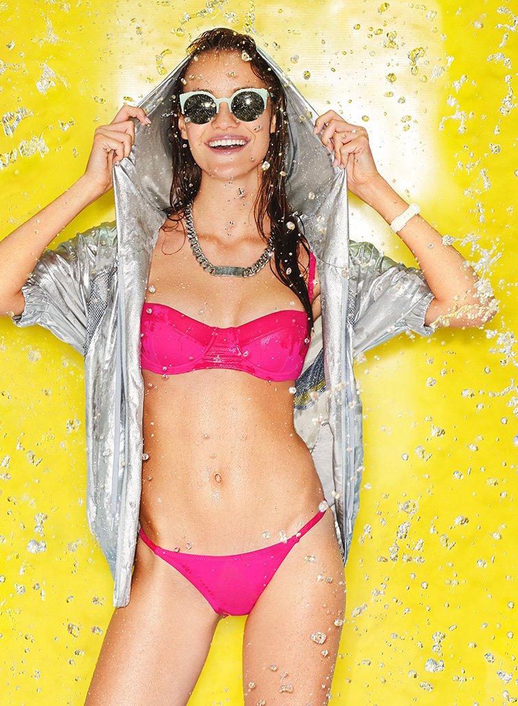 Proenza Schouler Reef Solids Underwire Demi Bikini