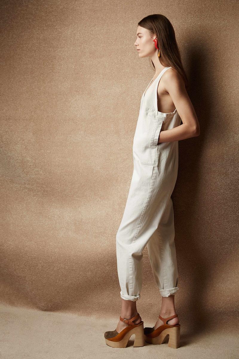 Rachel Comey Buxton Button-through Denim Jumpsuit