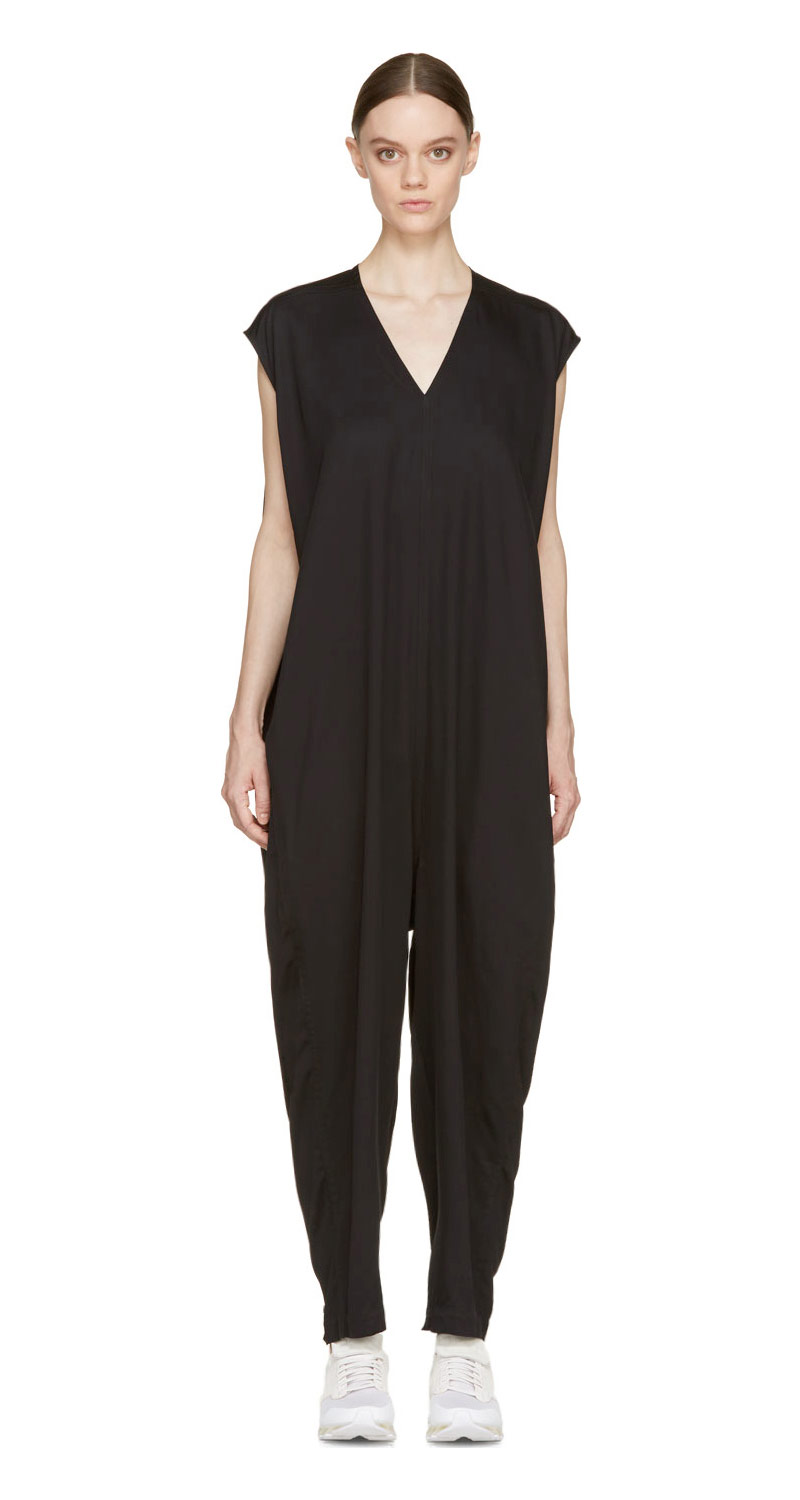 Rick Owens Black Bodybag Jumpsuit