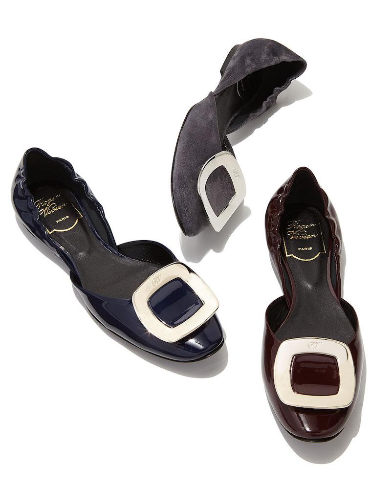Roger Vivier Ballerine Chips Patent Leather d'Orsay Flat