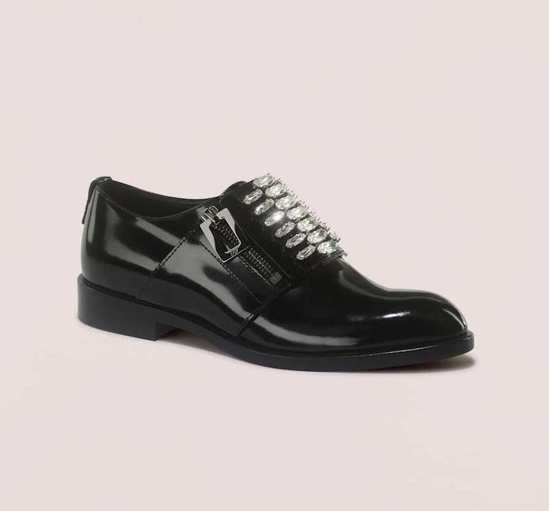Roger Vivier Crystal-Embellished Patent Leather Oxford