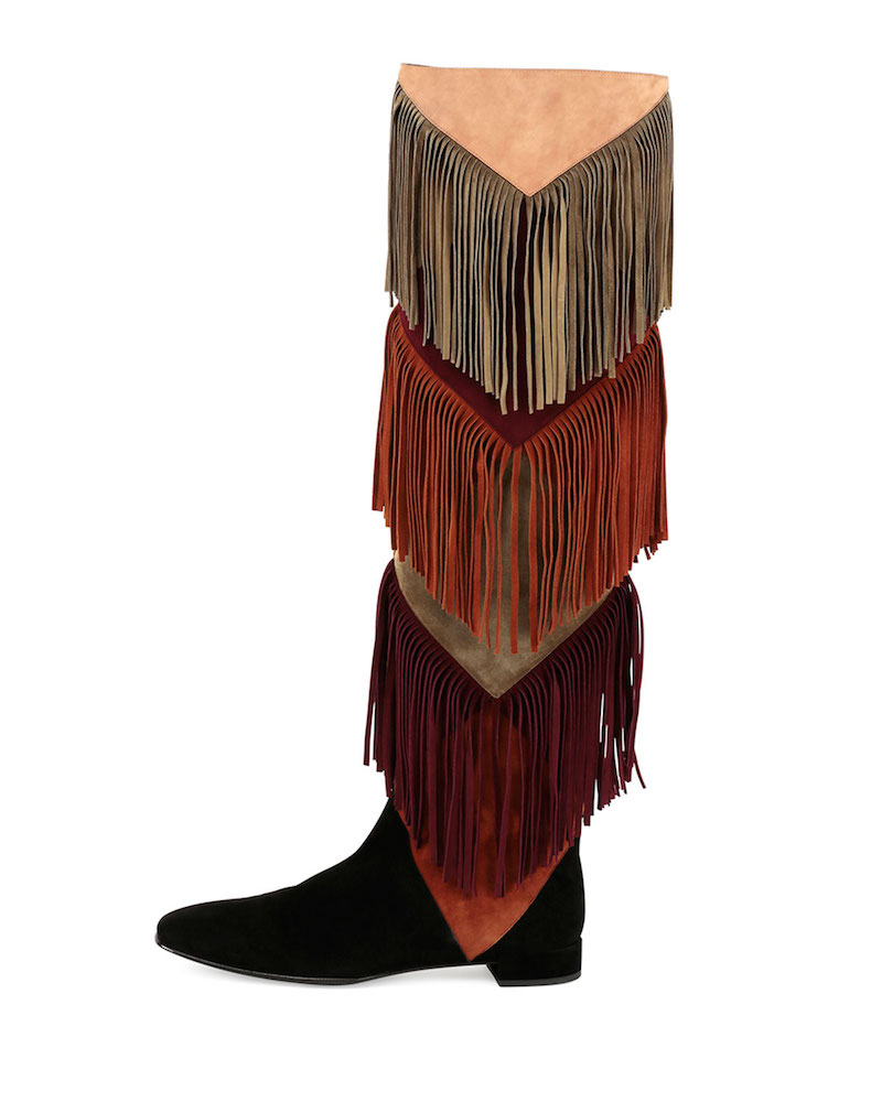 Roger Vivier Prismick Over-the-Knee Fringe Boot