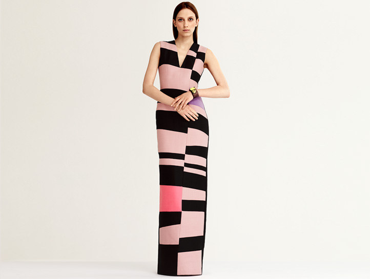 Roksanda Ilincic long pink & black gown