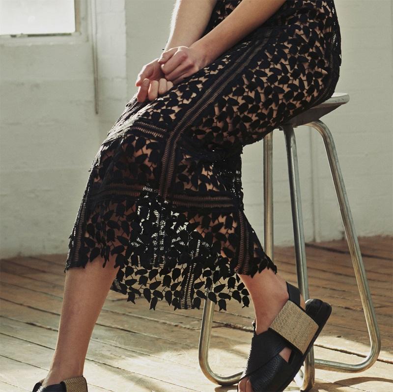 Self-portrait Arabella lace midi dress-