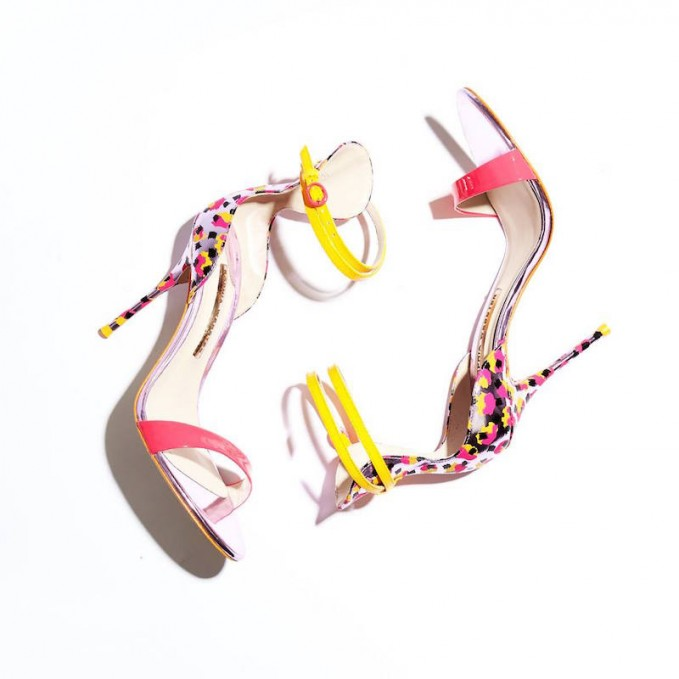Sophia Webster Nicole Sketch Camo Leather Sandals