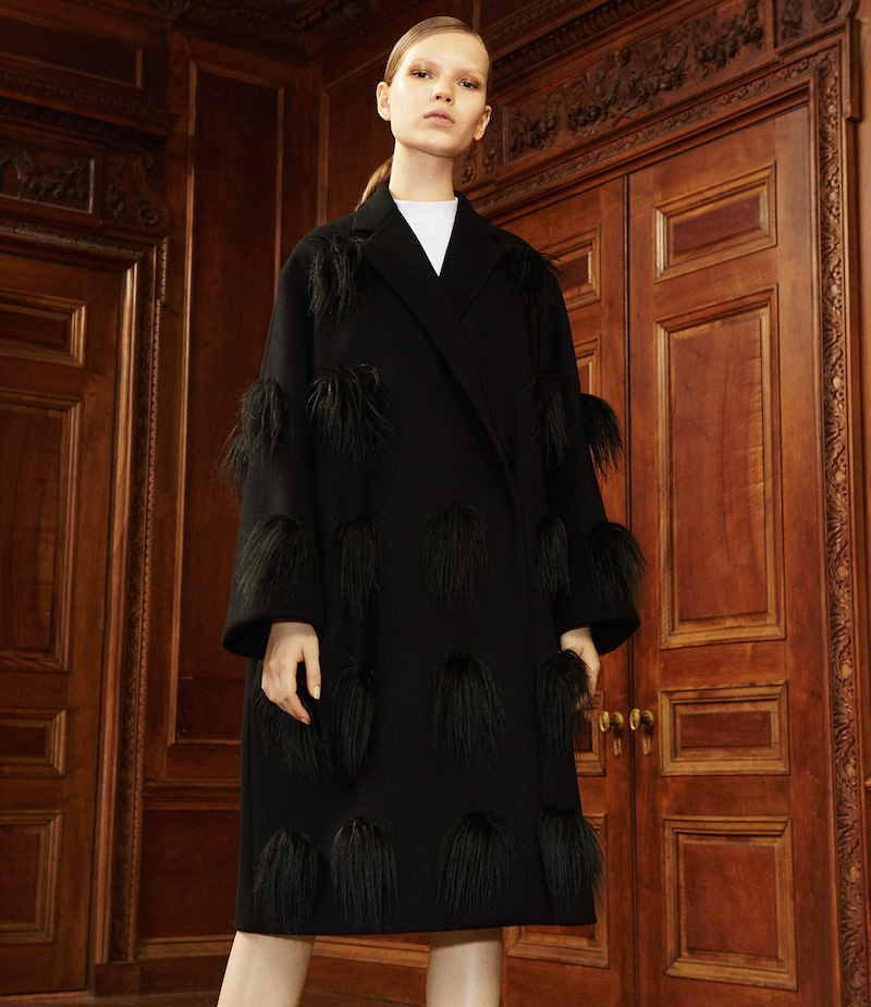 Stella McCartney Pom-Pom Verity Coat