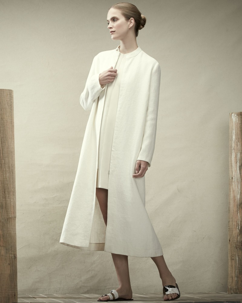 THE ROW Heavy Burlap Linen Long Coat