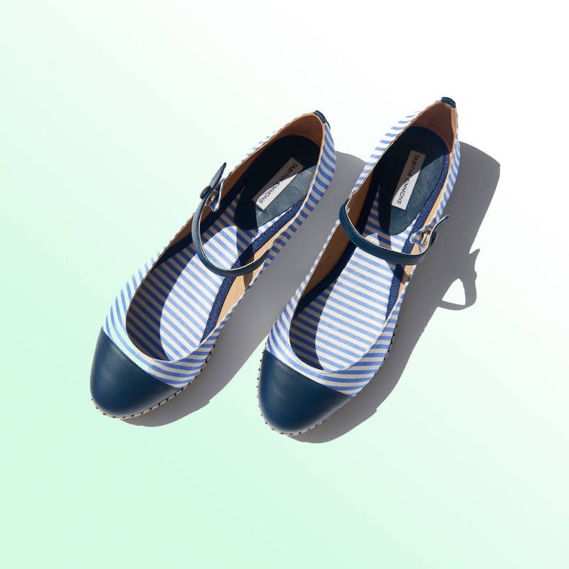 Tabitha Simmons Neely Striped Silk and Leather Espadrilles
