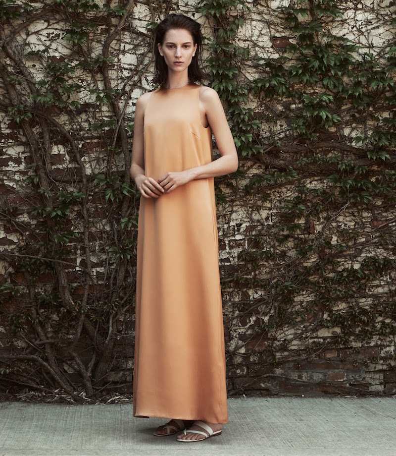 The Row Charmeuse A-Line Ronhas Dress