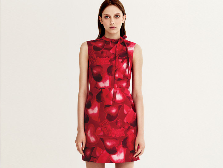 Valentino Camuamour-brocade dress