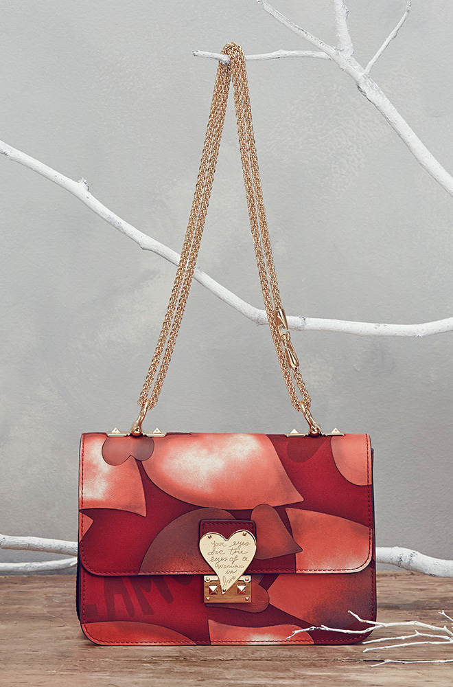 Valentino L'Amour Heart-Print Shoulder Bag