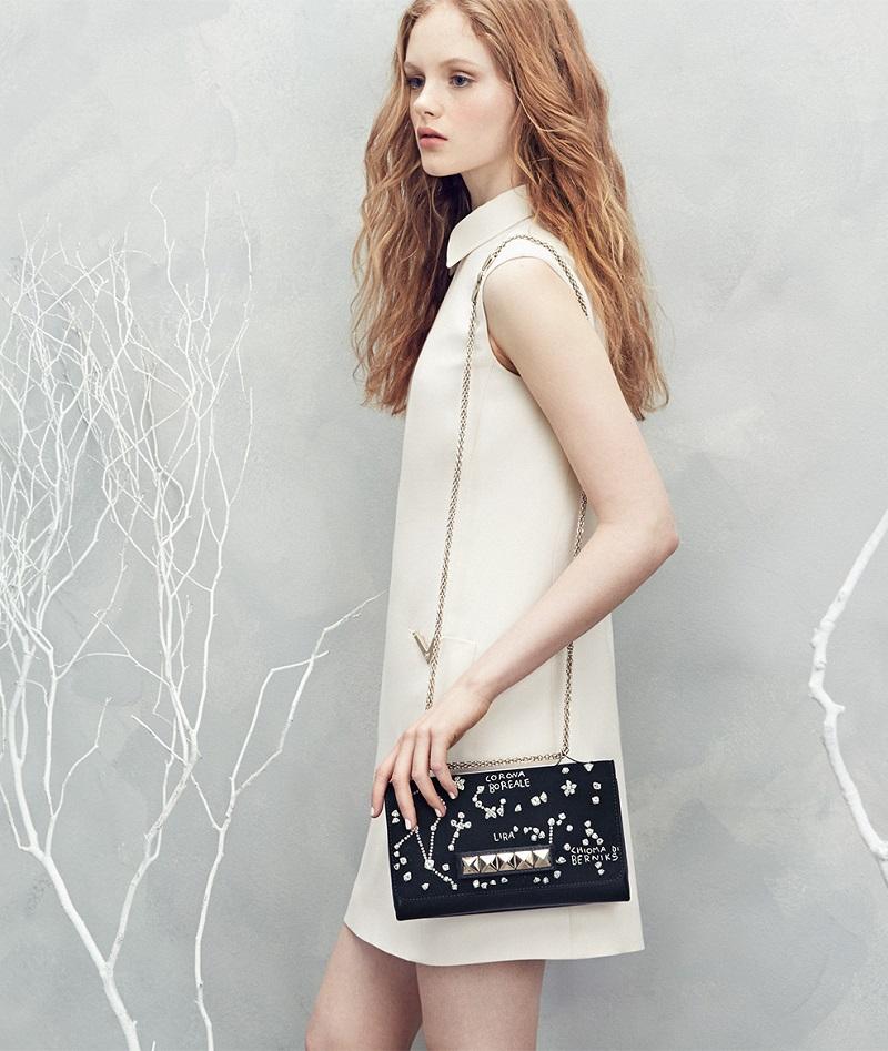 Valentino Va Va Voom Celestial Embellished Shoulder Bag