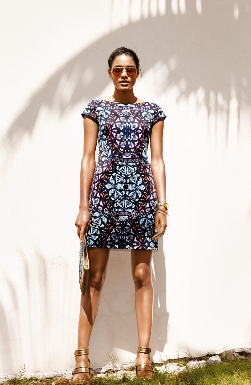 Vince Camuto Graphic Print Scuba Shift Dress