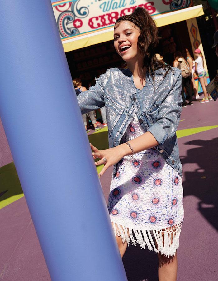Violet Skye Crochet Dress In Pattern With Tassel Trim
