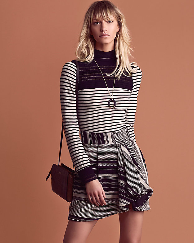 Yigal Azrouel LaceStripe Turtleneck