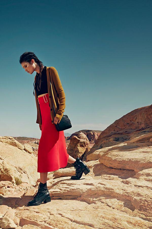 A.L.C. Baker A-Line Midi Skirt