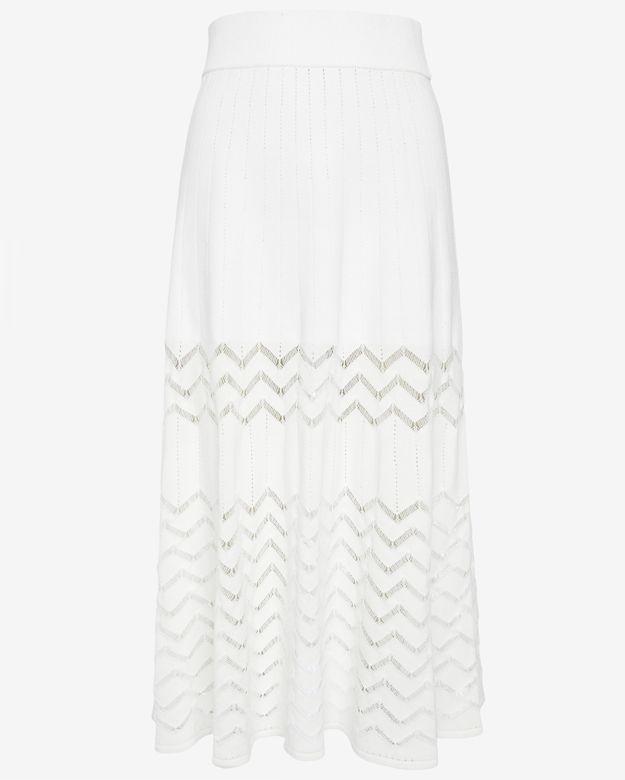 A.L.C. Snyder Chevron Knit A-line Midi Skirt_1