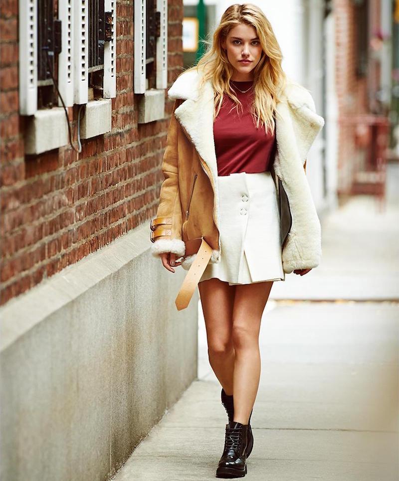 Acne Studios Paynton Boiled Wool Miniskirt