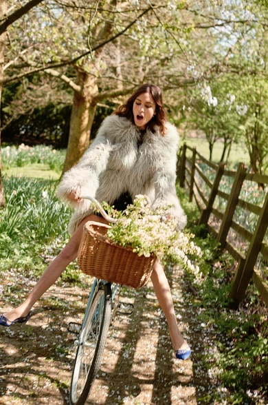 Alexa Chung in Stella Mccartney Fur Free Fur Ivory Ramona Coat_2