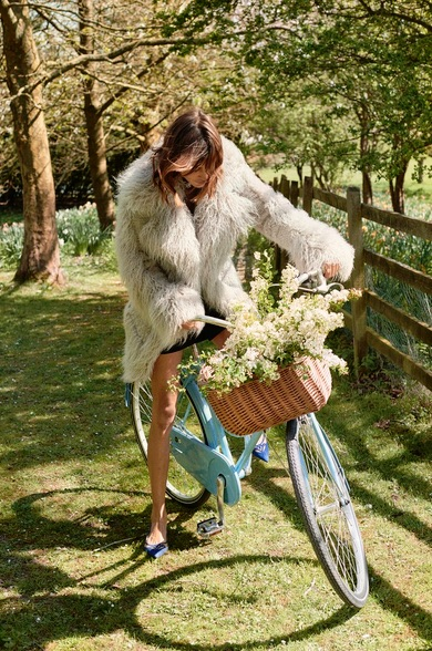 Alexa Chung in Stella Mccartney Fur Free Fur Ivory Ramona Coat_3
