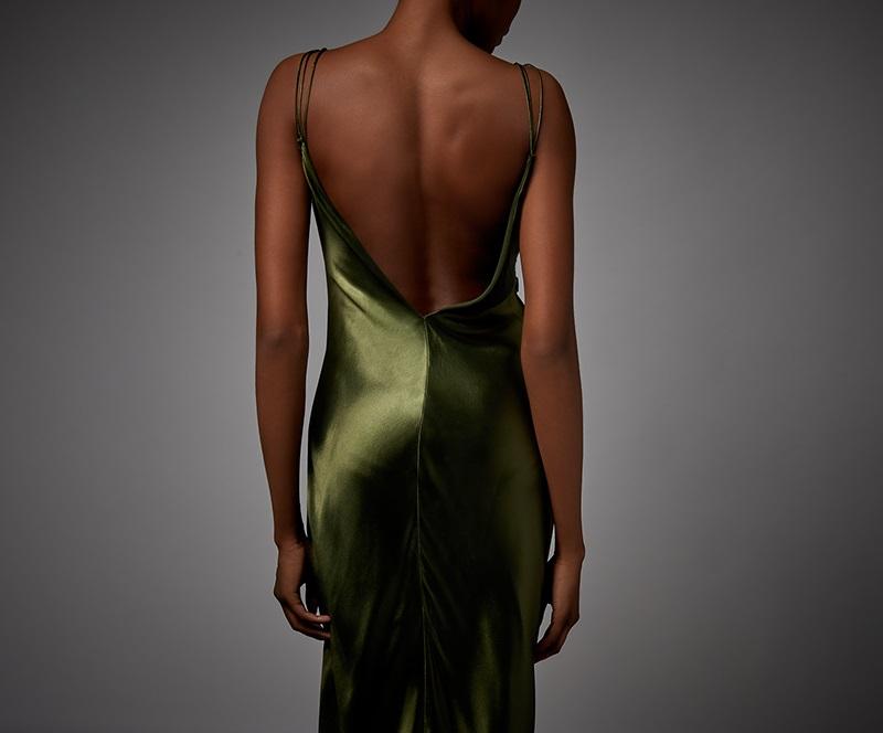 Alexander Wang Braid-detail liquid-satin dress