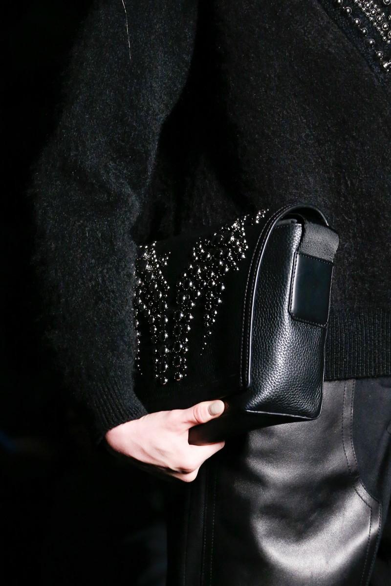 Alexander Wang Runway Studded-Flap Messenger Bag