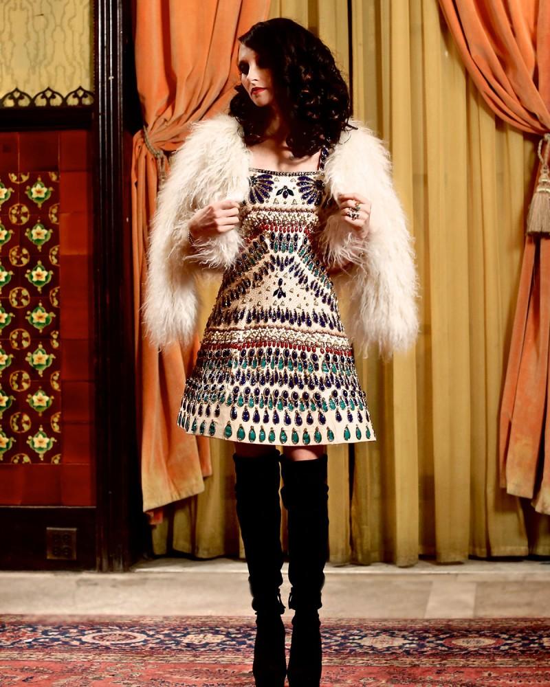 Alice + Olivia Fawn Lamb Fur Jacket