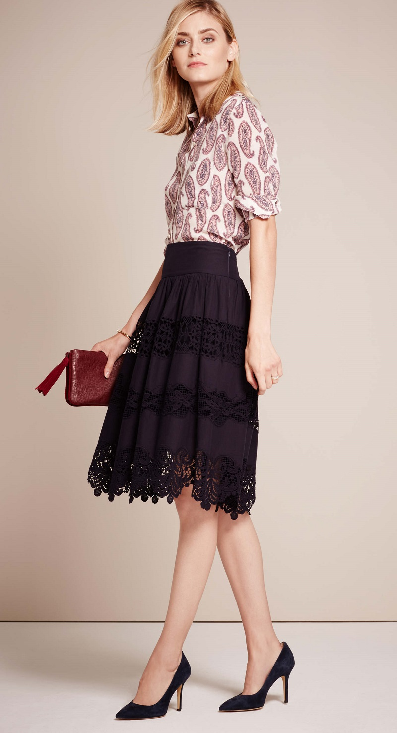 Ann Taylor Lacy Full Skirt
