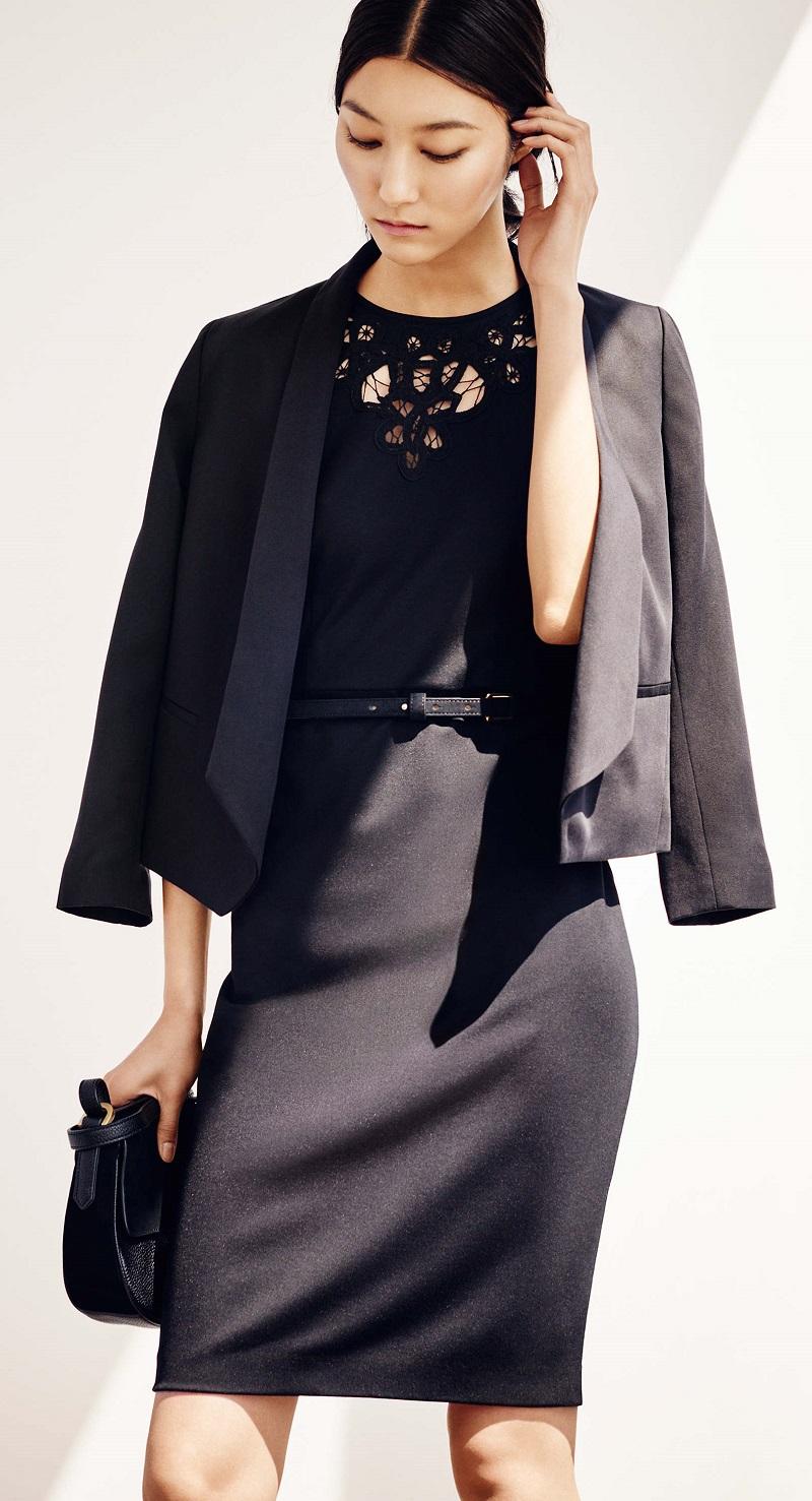 Ann Taylor Petite Lacy Ponte Sheath Dress