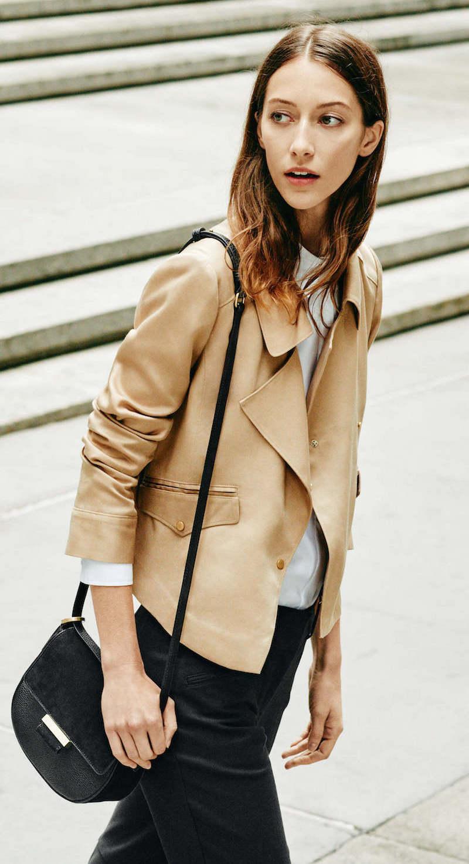 Ann Taylor Twill Moto Jacket